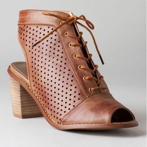 Cambridge Lace up booties